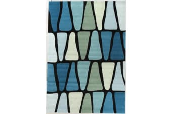 Rock Star Blue And Green Rug 165x115cm