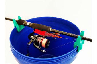 Bucket Fishing Rod Holder - Clips To Most Buckets - Rod Touch By Daiichiseiko