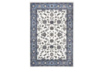 Classic Rug White with Blue Border 230x160cm