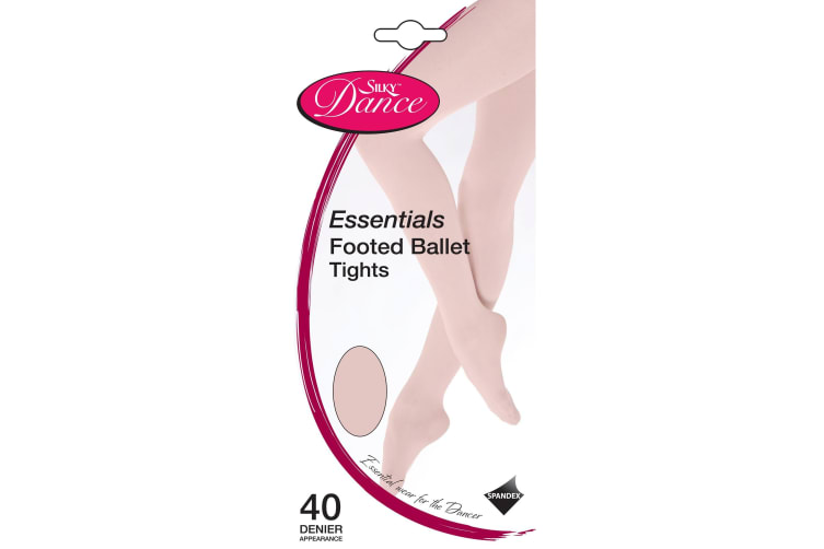 Silky Childrens Girls Dance Essential Full Foot Tights (1 Pair) (Pink) (3-5 Years)