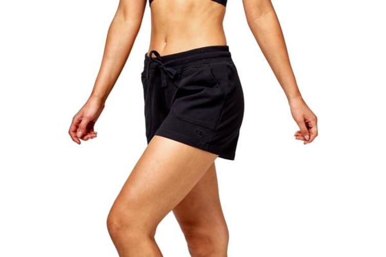 Champion Women's Essential French Terry Shorts (Black, Size 8)