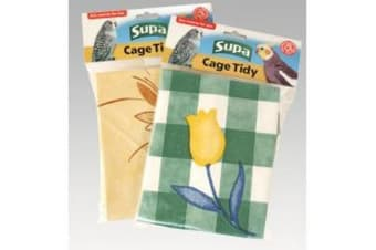 Supa Bird Cage Tidy Cage Floor Cover - ASRTD (Assorted) (88cm)