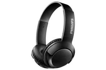 Philips Bass Bluetooth Wireless On-Ear Headphones w/ Mic Foldable Headset Black
