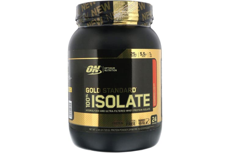 Optimum Nutrition, Gold Standard, 100% Isolate, Strawberry Cream