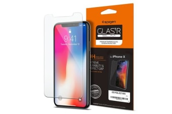Spigen iPhone X Premium Tempered Glass Screen Protector Super HD Clarity