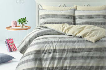 Style & Co 100 % Cotton Reversible Quilt Cover Set (Queen, Limped)