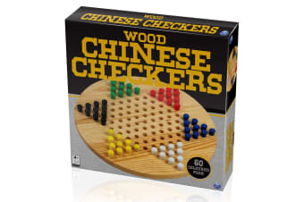 Cardinal Classic Wood Chinese Checkers Wooden Board Game Set Kids/Children Toy