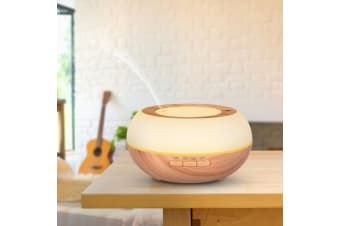 300Ml Humidifier Aromatherapy Diffuser Ultrasonic 7 Colour Led - White