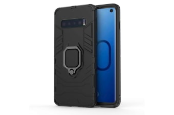 For Samsung Galaxy S10 Case  Black Armour Ring Holder Shockproof Phone Cover