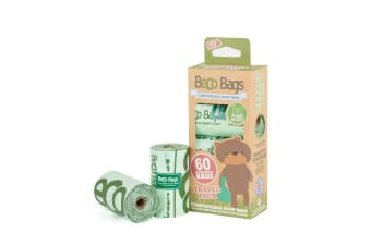 Beco Pets Dog Compostable Bags (60) (Green) (One Size)