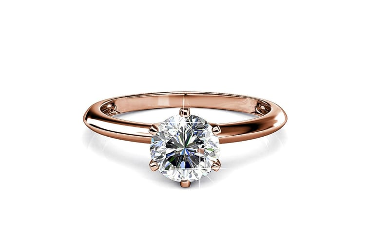 One In A Million Solitaire Ring Embellished with Swarovski crystals Size US 8