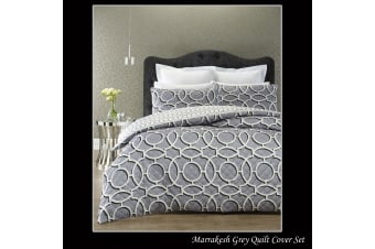 PHASE2 Marrakesh Grey Quilt Cover Set KING