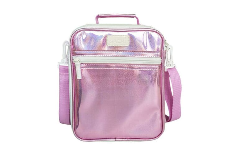 Sachi Style 225 Lustre Insulated Junior Lunch Tote Pink