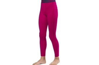 XTM Kid Unisex Thermal Bottoms Merino Kids Pant Deep Pink - 12