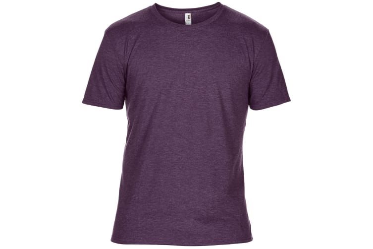 Anvil Mens Plain Short Sleeve Tri-Blend T-Shirt (Heather Aubergine) (S)