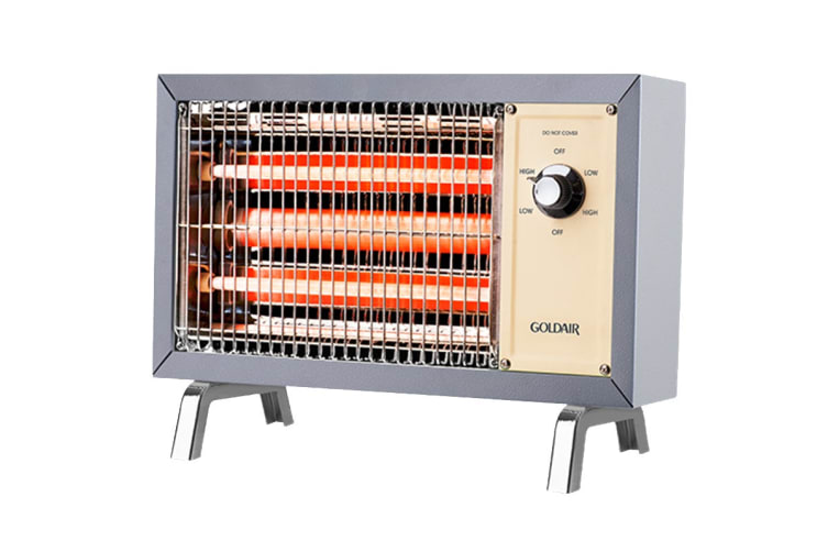 Goldair 800W Retro Radiant Heater with 2 Radiant Bars & Heat Settings (GIR080G)
