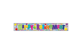 Simon Elvin Happy Retirement Foil Party Banner (Multicoloured)