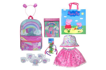Peppa Pig Girls Show Bag Skirt/Tea Set/Cooler Bag/Clip/Headband/Backpack/Hat 3y+