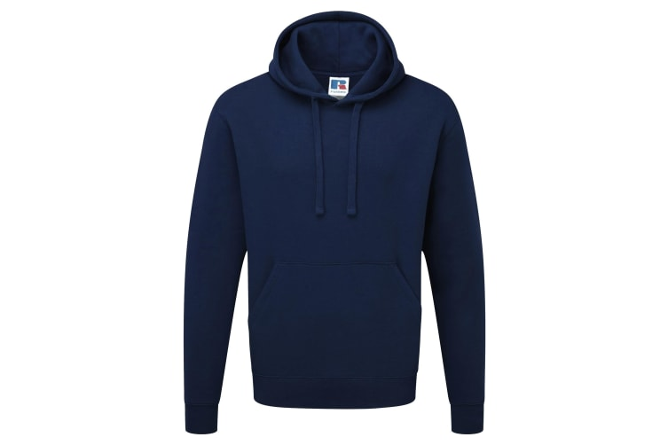 Russell Mens Authentic Hooded Sweatshirt / Hoodie (French Navy) (M)