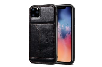 For iPhone 11 Dibase TPU + PC + PU Wild Horse Texture Protective Case Wallet   Black