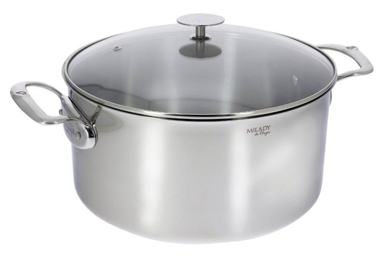 De Buyer Stainless Steel Casserole Milady with Lid 28cm