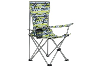 Trespass Childrens/Kids Joejoe Camping Chair With Carry Bag (Treadblue Print)