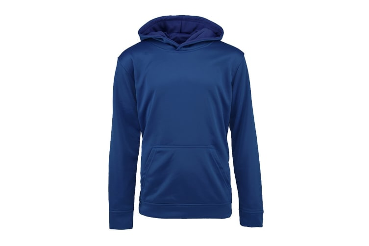Champion Boys' Solid Performance Pullover Hoodie (Dark Royal, Size L)