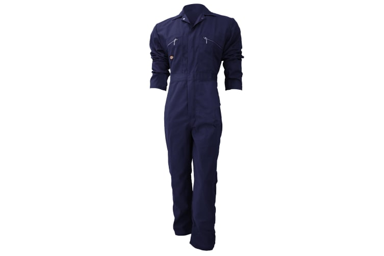 Dickies Redhawk Zip Front Coverall Regular / Mens Workwear (Navy Blue) (36inch)