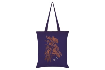 Grindstore Unorthodox Collective Vector Lion Tote Bag (Purple) (One Size)