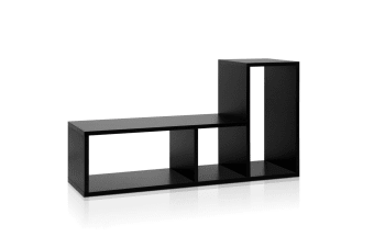 DIY L Shaped Display Shelf (Black)