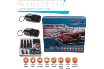 REMOTE CONTROL KEYLESS ENTRY 4 DOOR CENTRAL LOCKING KIT UNIVERSAL CAR NEW SET