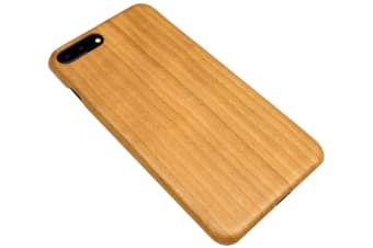 For iPhone 8 PLUS 7 PLUS Case Natural Cherry Wooden Durable Protective Cover
