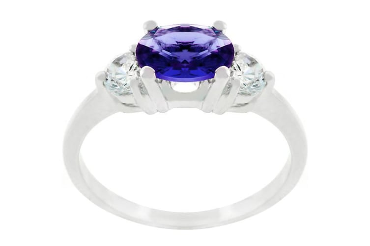 Royal Sapphire Ring in White Gold