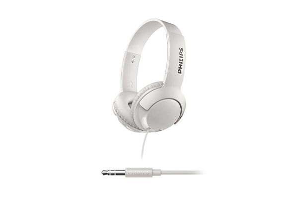 Philips BASS+ On-Ear Headphones - White ( SHL3070WT)