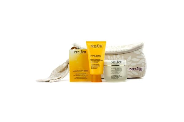 Decleor Hydra Floral Anti-Pollution Natural Beauty Collection: Cream + Mask + Aromessence Neroli + Bag (3pcs+1bag)