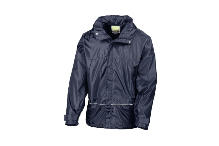 Result Mens Waterproof Windproof 2000 Coach Jacket (Navy Blue) (XL)