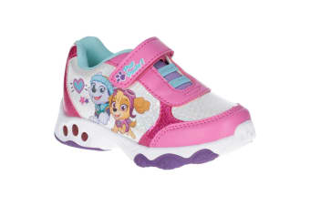 Leomil Paw Patrol Childrens Girls Skye And Everest Light Up Trainers (Fuchsia) (11.5 Child UK)