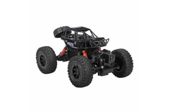 Lenoxx Waterproof Crawler Rechargeable RC Amphibious 4WD Toy Car Kids 8+ Black
