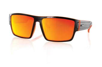 Carve Sublime Matt Black Orange Iridium Polarized Unisex Sunglasses