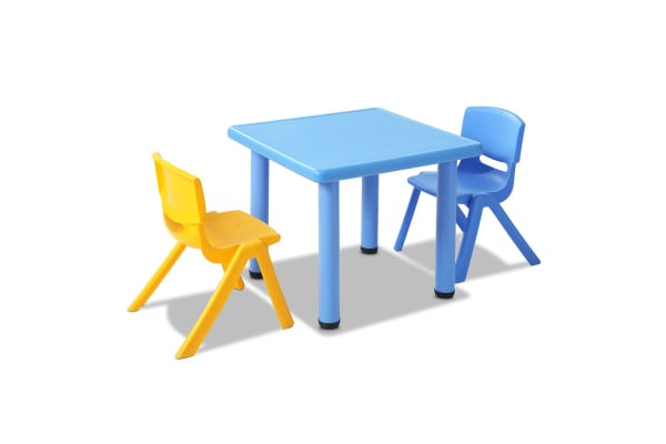 Kids 3 Piece Table and Chairs Playset (Blue)