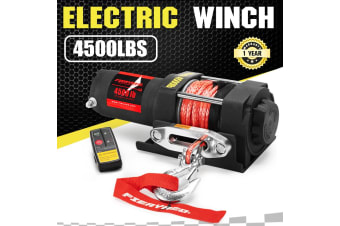 FIERYRED FIERYRED Wireless 4500LBS/2041kg 12V Electric Winch Boat ATV 4WD Synthetic Rope