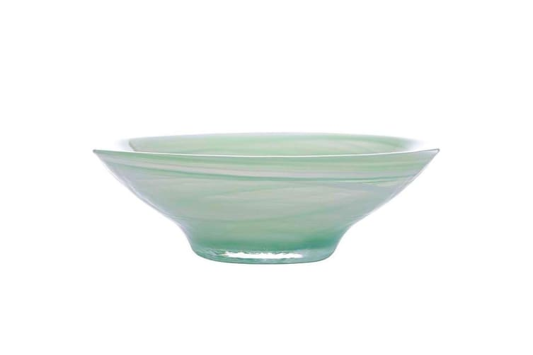 4x Maxwell & Williams 26cm Marblesque Serving Glass Soup Salad Dish Bowl Mint