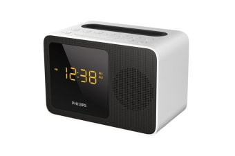 Philips Alarm Clock USB with Bluetooth - White (AJT5300W)