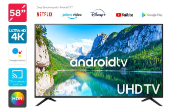 "Kogan 58"" Smart HDR 4K LED TV Android TV™ (Series 9, RU9210)"