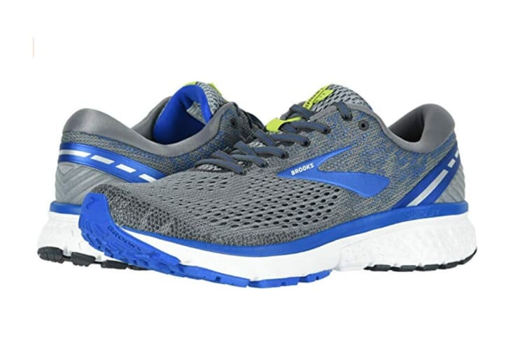 Brooks Men's Ghost 11 (Grey/Blue/Silver, Size 8)