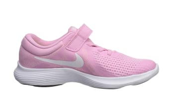Nike Revolution 4 (PS US) Girls' Pre-School Shoe (Pink Rise/White, Size 1Y US)