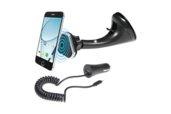 Magmate Windscreen Mount 3.4A Charger Phone holder and charger kit