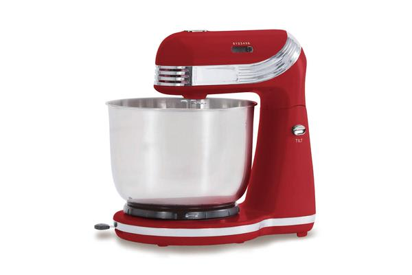 TODO 250W 6 Speed Electric Stand Mixer W/ Stainless Steel Bowl Retro Red Xj-13406