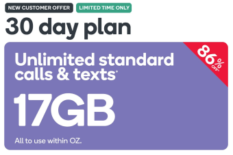Kogan Mobile Prepaid Voucher Code: LARGE (30 Days | 17GB)