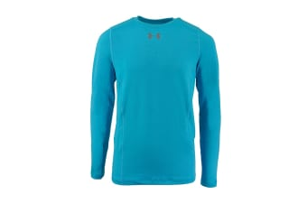 Under Armour Boys' ColdGear Infrared Everyday L/S Printed Shirt (Sky Blue/Steel)
